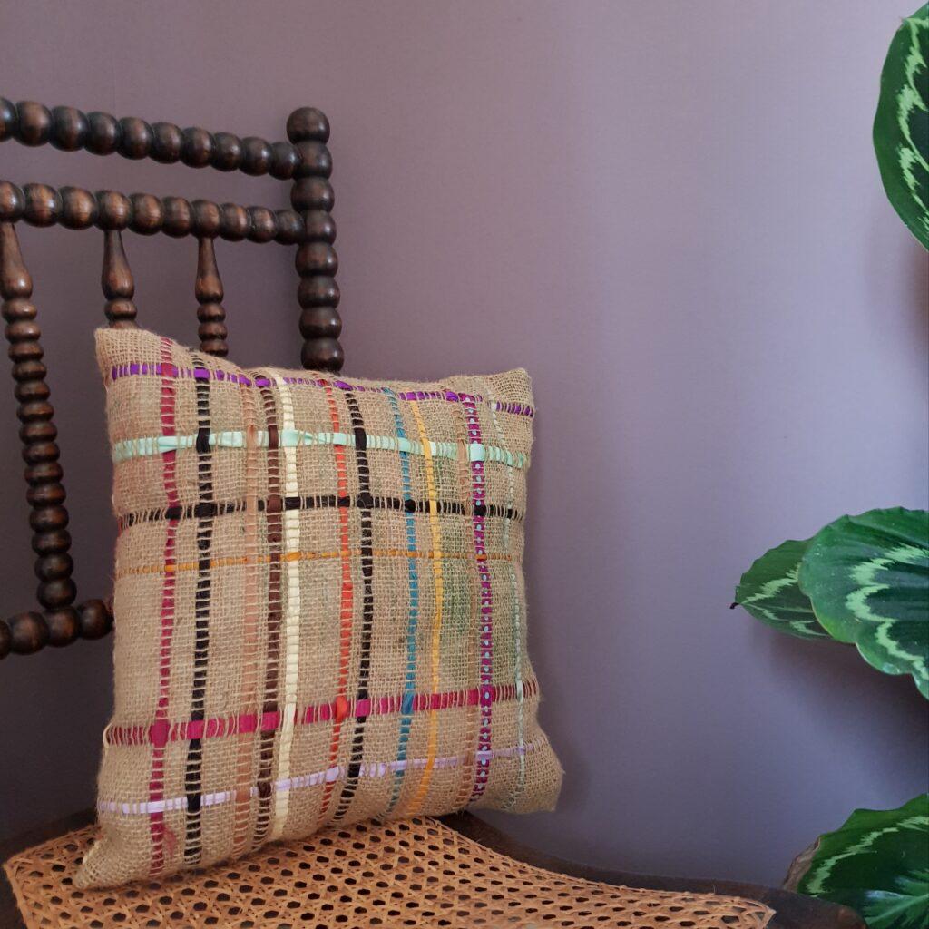 Hessian Ribbon Cushion Cover Workshop - Square - Agnis Smallwood