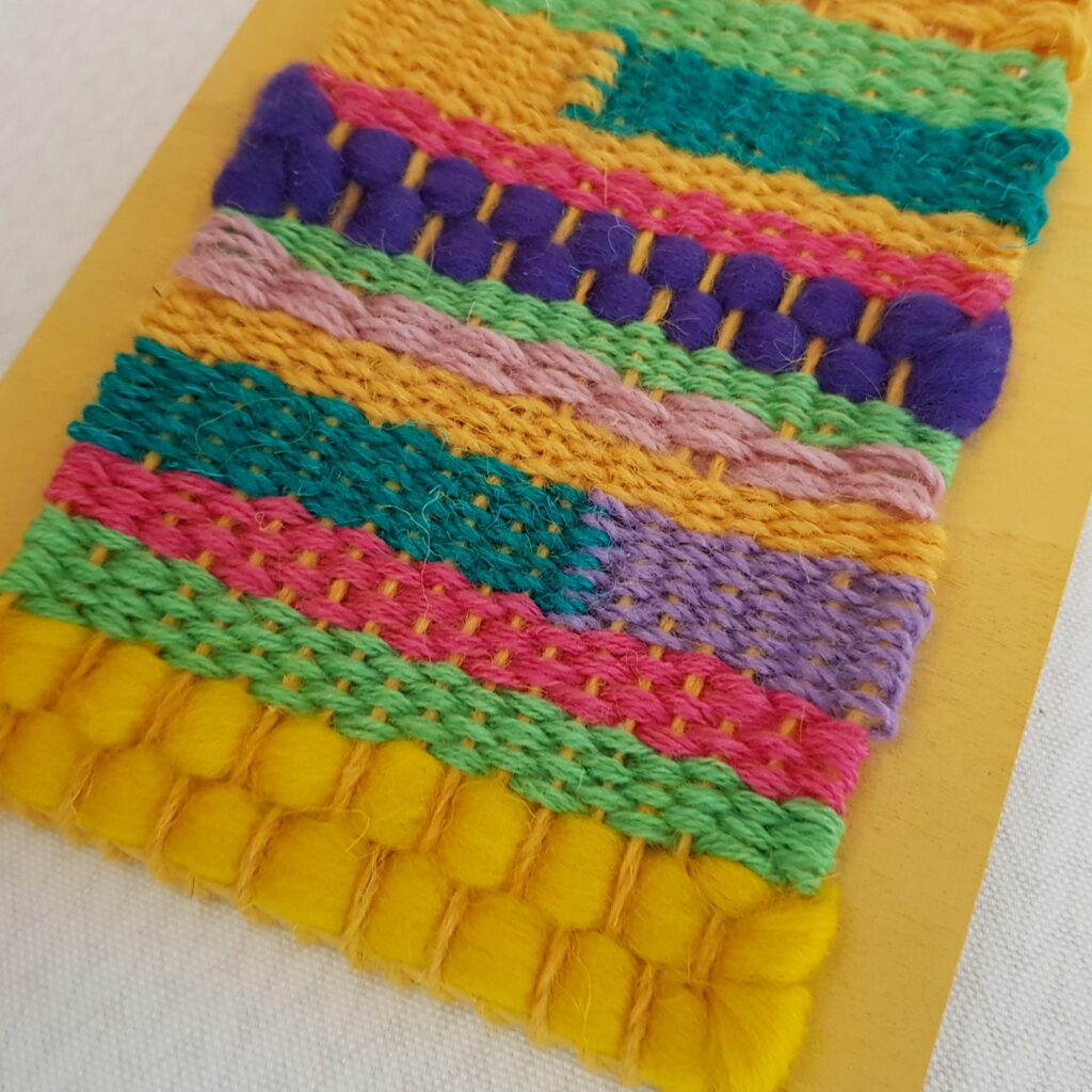 Spring woven Wall Hanging detail - Agnis Smallwood